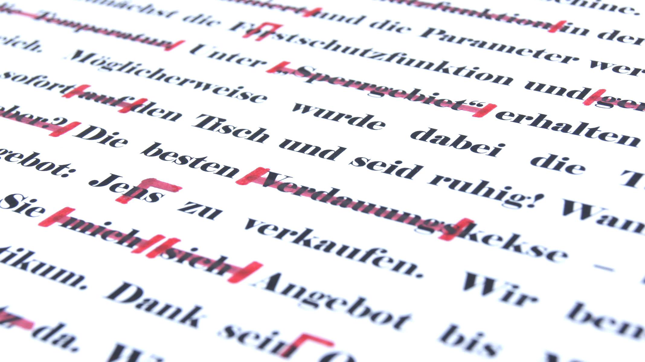 bild korrektorat lektorat textbeispiel gegenlesen lassen korrekturleser